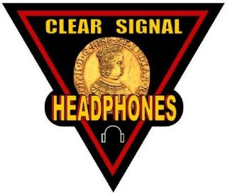 clear signal metal detector headphone logo
