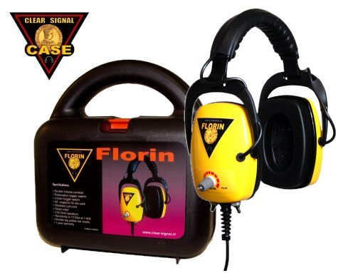 Florin clear signal metal detector headphone met koffer