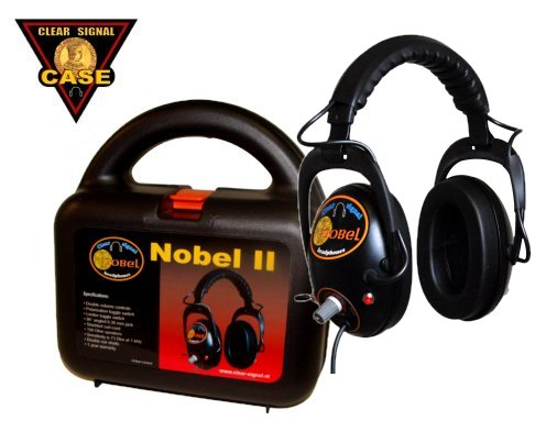 Clear Signal Metal Detector headphone nobel with case