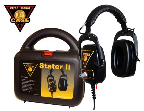 Metal detector headphone Clear Signal Stater with case