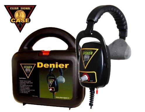 Metal Detector Headphone Clear Signal Denarius with case